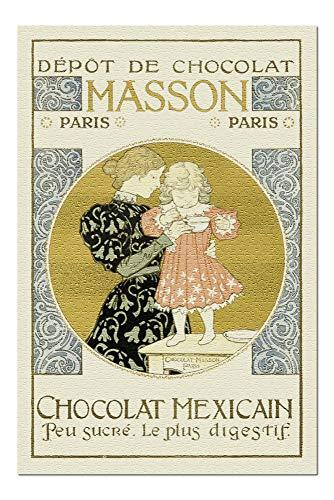 (Chocolat Mexicain - Masson Vintage Poster (artist: Eugene Grasset) France c. 1897 (20x30 Premium 1000 Piece Jigsaw Puzzle, Made in USA!))