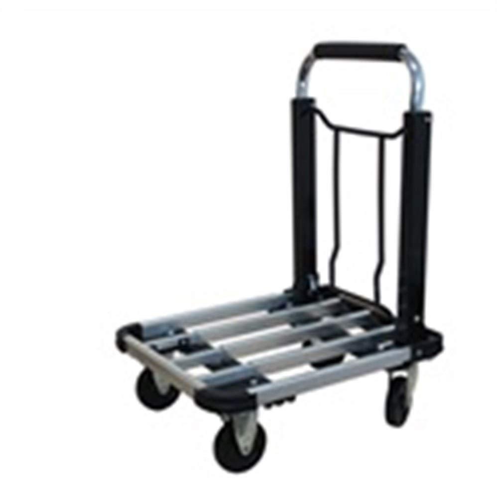 JIANPING Trolley Household Folding Portable Mute Trolley Car Shopping Cart Luggage Car Can Bear 150kg Shopping Trolley (Color : A)
