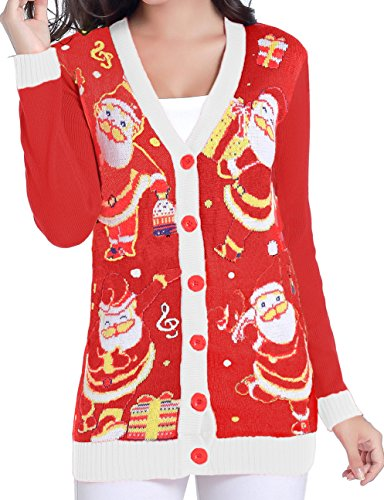 Women Christmas Sweater Cardigan