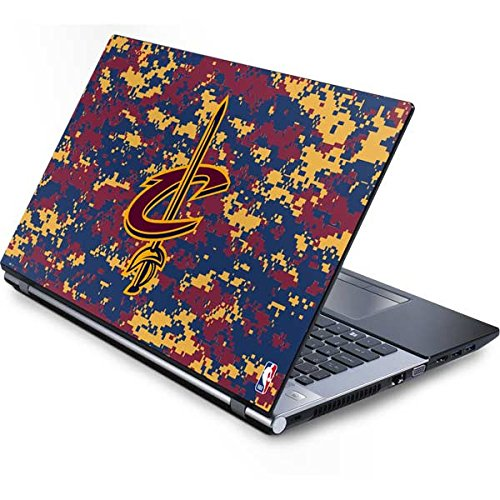 (Skinit NBA Cleveland Cavaliers Generic 17in Laptop (15.2in X 9.9in) Skin - Cleveland Cavaliers Digi Camo Design - Ultra Thin, Lightweight Vinyl Decal Protection)