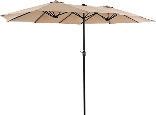 SUPERJARE-14-Ft-Outdoor-Patio-Umbrella-with-1.89-Inches-Pole-Caliber