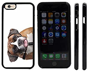 Rikki KnightTM Boxer Dog Design iPhone 6 Case Cover (Black Rubber with front bumper protection) for Apple iPhone 6
