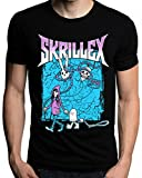 Skrillex Music DJ Logo Dubstep Beats T-Shirt Medium Black