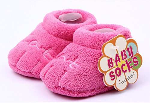 Gründung Pro Endlose®-Baby-Schuhe Kinder Junge Mädchen Unisex Geschenkidee 0-12 Warme Winter Fuchsia