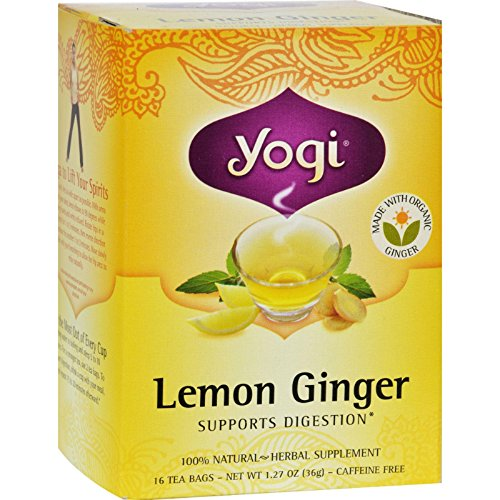 - Yogi Tea Lemon Ginger Tea Bags 16 ea ( pack of 6)