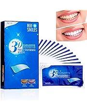 NAF glimlacht tanden bleken strips, bleken strips, niet-peroxide, professionele non-slip, veilig voor emaille, 3D-wit, heldere glimlach verwijdert vlekken - 14 zakjes 28 stks