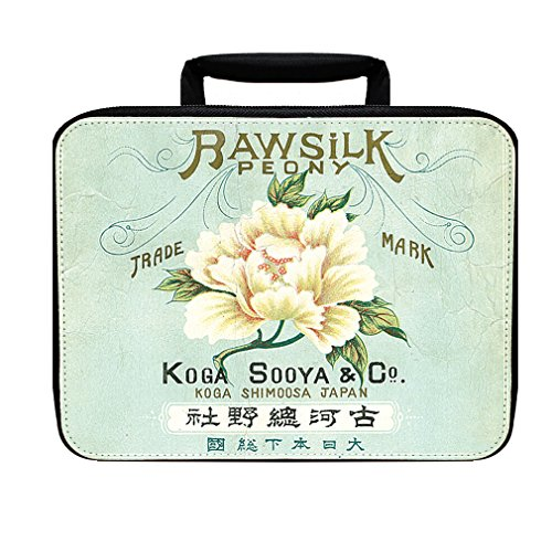 Peony Japanese Vintage Poster Insulated Lunch Box Bag by Style in Print