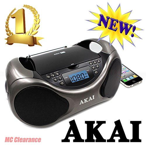 Akai CD/AM/FM Portable Boombox CE2000 with LCD Display + Aux + Bass Boost