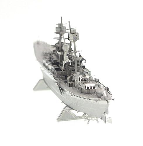 Charming Crew 3D メタリックナノパズル アメリカ海軍 戦艦 USSアリゾナ 3D立体模型 金属 切り抜き 組立て式 精巧 精密 ミニチュア 110x30x60mm