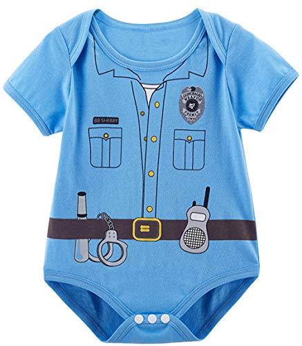 COSLAND Baby Boys' Halloween Costume Police Bodysuit (Police, 6-12 -