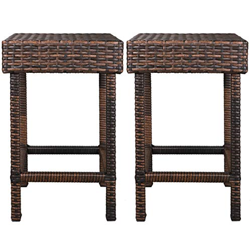 f2c brown wicker barstool all weather dining chairs outdoor patio