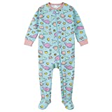 Gerber Baby Girls' 2-Pack Footed Pajamas, Blue