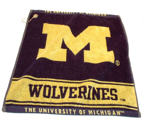 Michigan Wolverines Official NCAA 16 inch x 22 inch Golf Towel by Team Golf by Team Golf