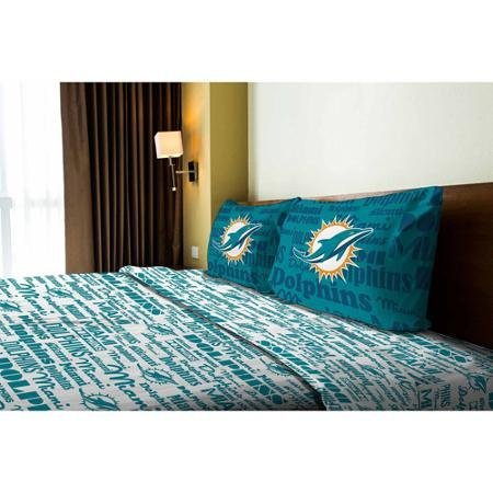 NFL Anthem Miami Dolphins Bedding Sheet Set: Full by Northwest