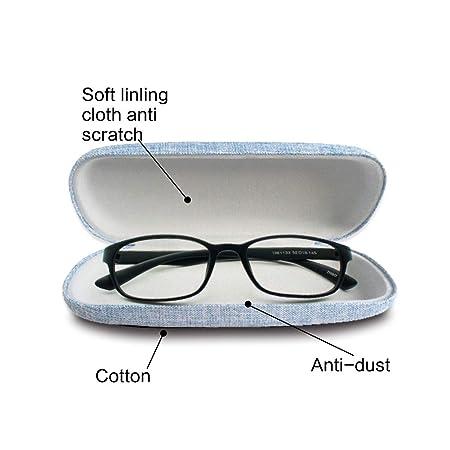 SwirlColor Brillenetui Kinder Brillenputztuch Kontaktlinsenetui 4-TLG Brillenetui Leinen Retro Brillenetui f/ür Damen Damen M/ädchen Jungen Herren mit Brillenetui
