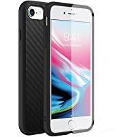 RhinoShield SolidSuit Carbon Fiber Protective Case with Screen Protector for iPhone 7 & iPhone 8 (Black)