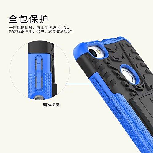YHUISEN Hyun patrón de doble capa de armadura híbrida Kickstand 2 en 1 caso de la cubierta de choque para Xiaomi Redmi Nota 5A / Redmi Nota 5A Prime ( Color : Red ) Black
