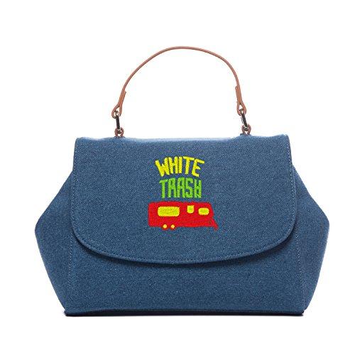 Small Crossbody Handbags For Women Vintage Denim Cross Shoulder Bags White Trash Camper Handbag (White Trash Outfit)