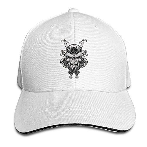 [Runy Custom Japanese Warrior Adjustable Hunting Peak Hat & Cap White] (Ylvis Fox Costume)