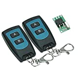 Walmeck DC 7V-36V Wireless Relay Remote Control Switches Super Mini Body Wireless Remote Control Switch and 2 Key RF 433 Mhz Transmitter Remote Controls