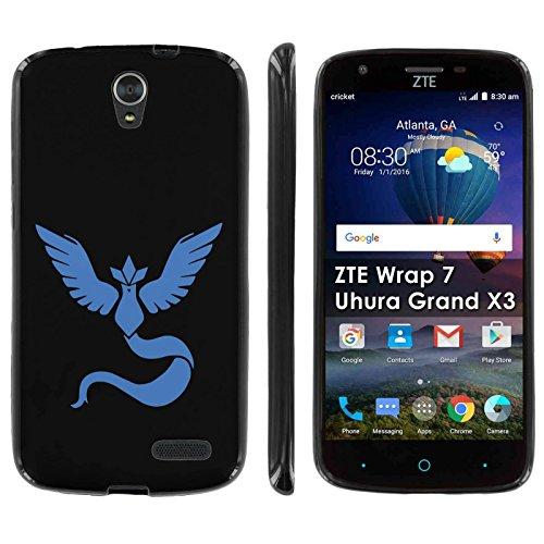 ZTE [Uhura Grand X3 Z959] Soft Mold [Mobiflare] [Black] Thin Gel Protect Cover - [Blue Bird] for ZTE [Uhura Grand X3] [Warp 7] Photo