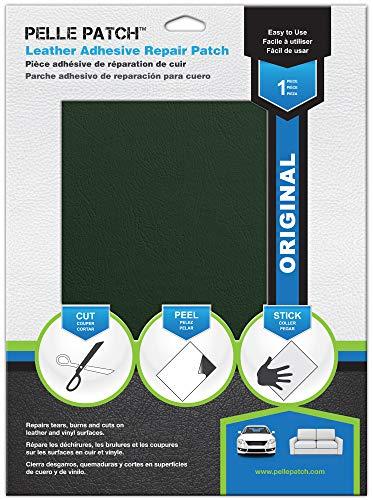 - Pelle Patch - Leather & Vinyl Adhesive Repair Patch - 25 Colors Available - Original 8x11 - Medium Green