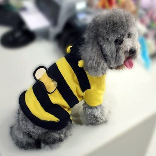 Cute Bumble Bee Styled Dog Suit Pet Clothing & Apparel-Size 10