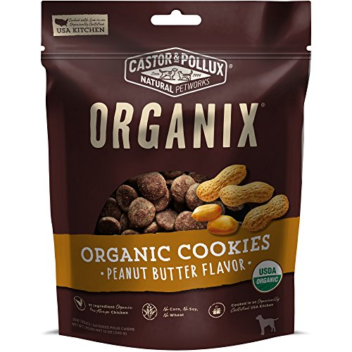 Castor & Pollux Organix Peanut Butter Flavored Dog Cookies, 12 Ounce Bag ( Pack Of 4 )