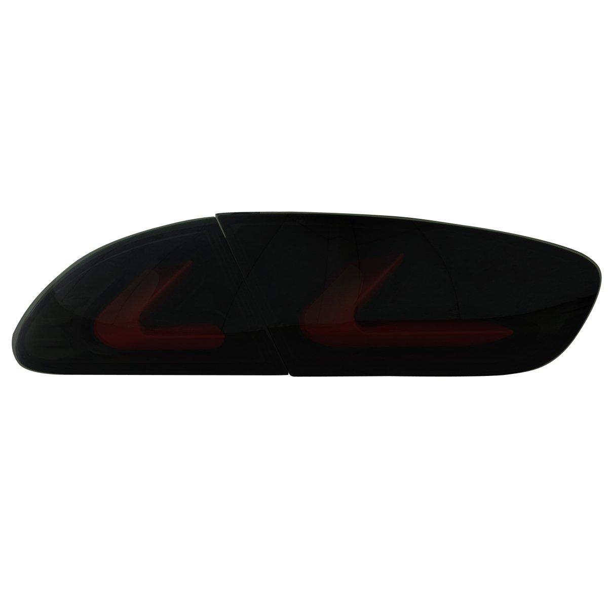 Dectane RSI08LLBS carDNA LED R/ückleuchten Seat Leon Lightbar 09 und 1P1 rauch schwarz
