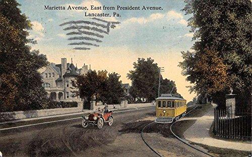 Lancaster Pennsylvania Marietta Avenue Street Scene Antique Postcard - Avenues Marietta The
