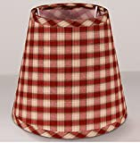 DY Bingo Linen Fabric Lamp Shades Plaid Hardback Mini Lampshade Plaid 2