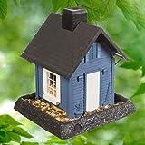 Northstates 9085 Village Collection Cottage Birdfeeder, 9.5 x 10.25 x 11, blue
