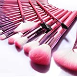 Make Up Brushes NEVSETPO 24pcs Synthetic Cosmetics Makeup Brush Set with Case Full Face Makeup Kits for Foundation…