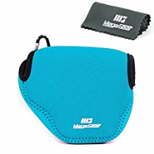 MegaGear ''Ultra Light'' Neoprene Camera Case Bag with Carabiner for Canon PowerShot SX510, SX420 IS, SX410 IS, SX400 (Blue)