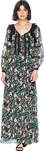 Juicy Couture Women's Secret Garden Floral Maxi Dress Pitch Black Secret Garden Large -