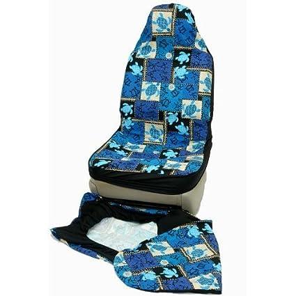 Amazon Hawaiian Car Seat Covers Blue Sea Turtle Set Of 2