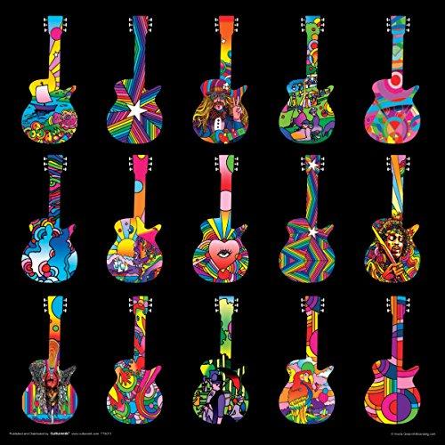 Howie Green Guitars Decorative Psychedelic Pop Modern Art Music Poster Print Unframed