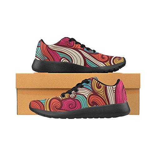 ... Interestprint Kvinners Joggesko Jogging Lette Sportsgangatletisk  Sneaker Mandala Bohem Stil Blomster Multi 1 ...