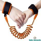Baby Demands Child Anti Lost Wrist Strap - Safety Velcro Leash Walking Hand Belt Blue And Orange