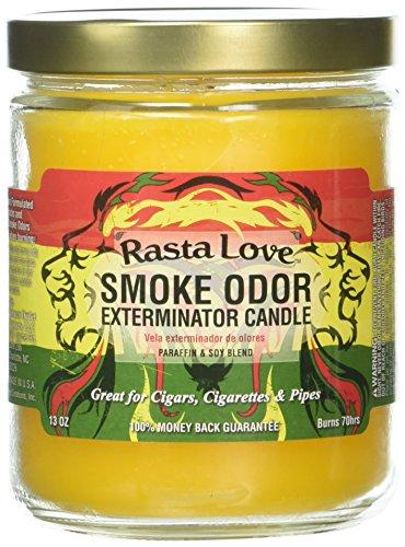 Odor Exterminator Candle (Smoke Odor Exterminator 13oz Jar Candle, Rasta Love)