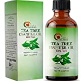 100% Pure Tea Tree Oil Natural Essential Oil with Antifungal Antibacterial Benefits for Face Skin Hair Nails Heal Acne Psoriasis Dandruff Piercings Cuts Bug Bites Multipurpose Surface Cleaner: more info