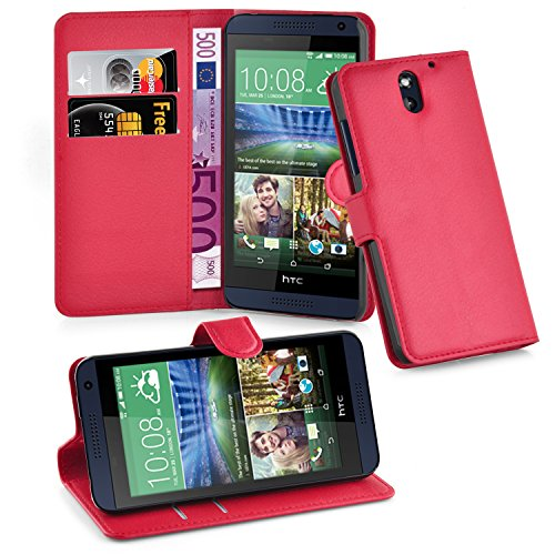 Cadorabo Case Works with HTC Desire 610 Book Case in Candy Apple RED – with Magnetic Closure, Stand Function and Card Slot – Wallet Case Etui Cover PU Leather - Htc Wallet Desire Phone