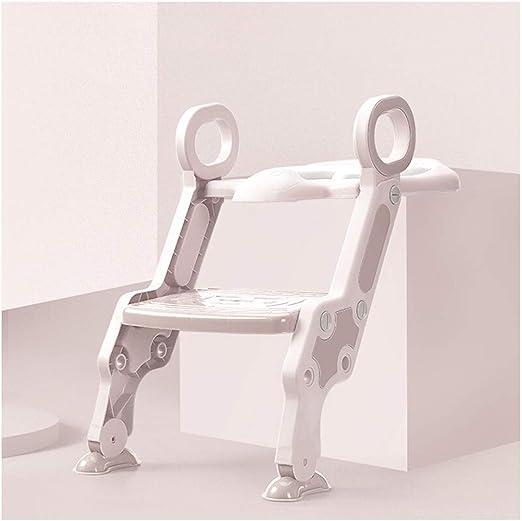Aseo Escalera Asiento -Escalera para Inodoro Suave Antideslizante, para Bebés, Hombres Y Mujeres. Diseño Plegable. Escalera De Entrenamiento. Inodoro. PP. HENGXIAO (Color : Light Pink): Amazon.es: Hogar