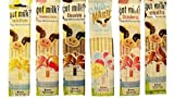 Milk Magic Magic Milk Flavoring Straws 36 Straws Flavors: Vanilla Milkshake, Cookies and Cream, Chocolate, Strawberry,Cotton Candy
