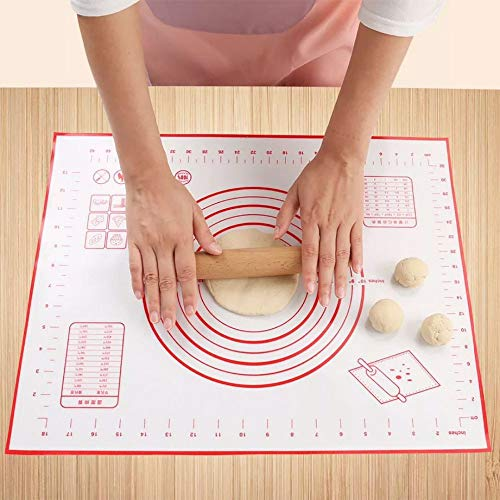 Silicone Pastry Mat With Measurements, More Than One Siz, Full Sticks To Countertop For Rolling Dough, Perfect Fondant Surface 29x26cm ()