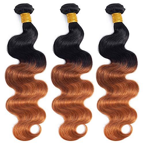 Ombre Brazilian Hair Body Wave Bundles 3pcs,Ombre Brazilian Virgin Hair Human Hair Weave - Hair Weave Human Ombre