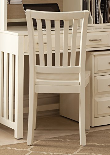 (Liberty Furniture INDUSTRIES 715-HO195 Hampton Bay Home Office School House Chair, White)