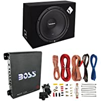Rockford Fosgate R1-1X12 12 400W Car Subwoofer + Box + 1000W Mono Amp + Amp Kit