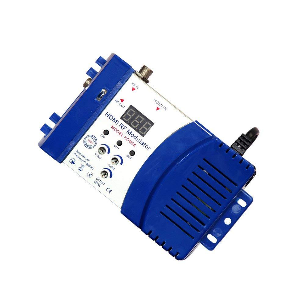 KinshopS HDM68 Modulador Digital RF HDMI Modulador VHF UHF Frecuencia PAL//NTSC Est/ándar
