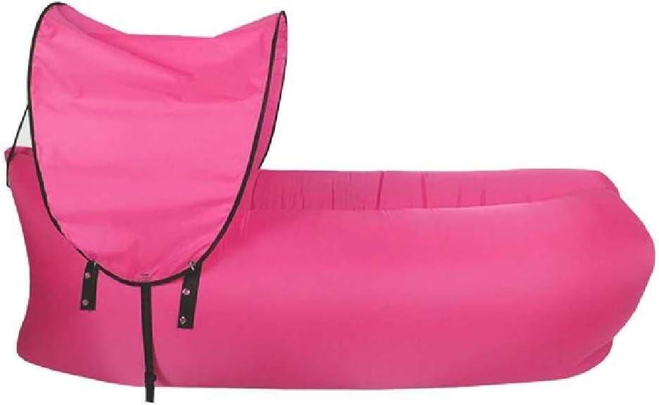SHUIZAI Hammock Hamaca Tumbona Aire sofá Inflable portátil a Prueba de Agua Anti - Fuga de Aire sofá de jardín Lakeside Beach Traveling Camping Rosa Caliente